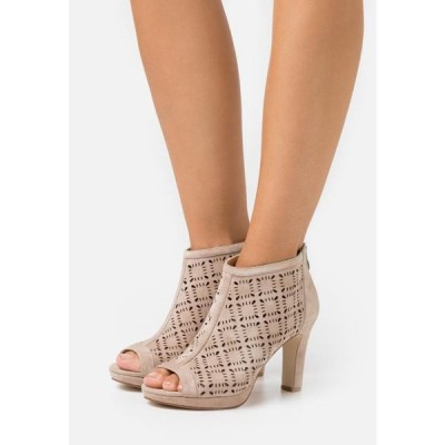 アンナフィールド レディース ブーツ LEATHER - High heeled ankle boots - beige