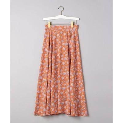 スカート UWCS フラワープリント フレアースカート