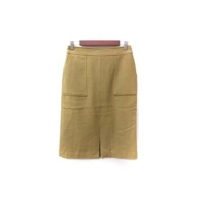 【中古】未使用品 SHARE PARK タイトスカート ミモレ ロング ウール 茶 ブラウン /YI レディース 【ベクトル 古着】