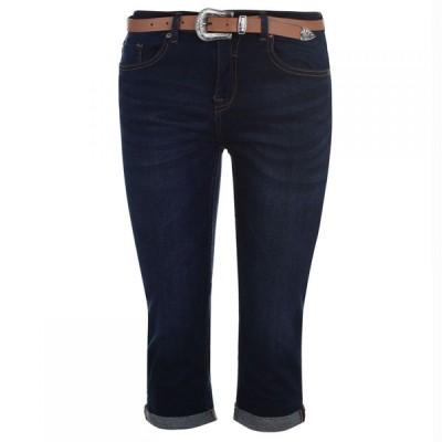 ソウルカル SoulCal レディース ジーンズ・デニム ボトムス・パンツ Belted Cropped Jeans Dark Wash