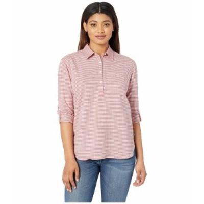 ノースフェイス レディース シャツ トップス Long Sleeve Bayward Shirt Spiced Orange Outdoor Print