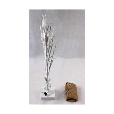 ブランチツリー WH×BL 60cm LEDツリー 枝ツリー クリスマスツリー イルミネーション ディスプレイ 白樺 ストリン?