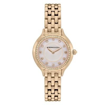 ビーシービージーマックスアズリア レディース 腕時計 アクセサリー Ladies 2 Hands Slim Gold-Tone Stainless Steel Band Watch 34mm