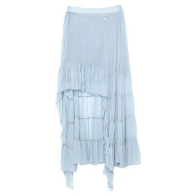 スーベニア SOUVENIR ひざ丈スカート スカイブルー M レーヨン 70% / シルク 30% ひざ丈スカート