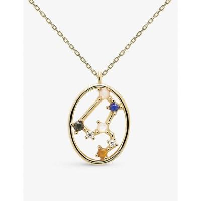 ピーディーパオラ PD PAOLA レディース ネックレス ジュエリー・アクセサリー Zodiac Leo 18Ct Gold-Plated Sterling Silver And Gemstone Necklace GOLD