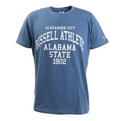 RUSSELLウェアBD カレッジ 半袖Tシャツ RBM21S0020 BLUブルー