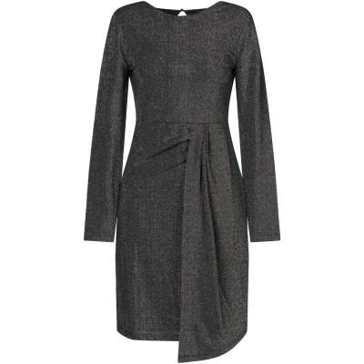 SET ミニワンピース&ドレス ブラック 34 ナイロン 70% / 金属繊維 25% / ポリウレタン 5% ミニワンピース&ドレス