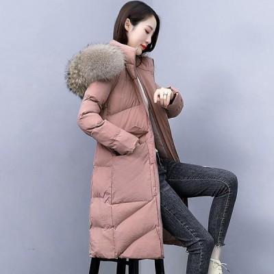 ダウンジャケット 女性 中綿 ロング丈 アウター 防寒 軽量 防風 キレイめ 暖かい カジュアル ファッション フォーマル 通勤 OL オフィス 学生 冬用