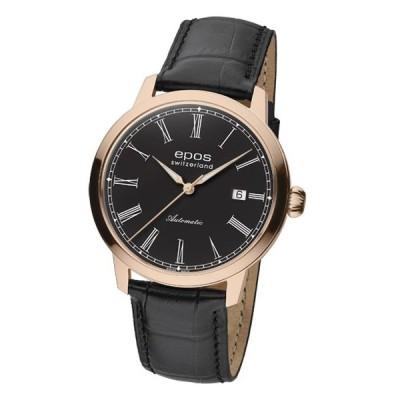 エポス オリジナーレ デイト 3432RGRBK 腕時計 メンズ 自動巻 epos ブラック系