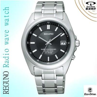 シチズン CITIZEN  レグノ ソーラーテック 電波時計 男性用腕時計  RS25-0344H