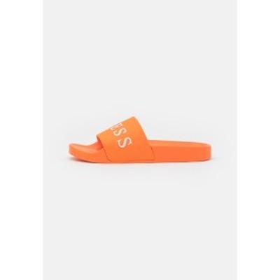 ゲス メンズ サンダル シューズ SLIDES - Pool slides - solo orange solo orange