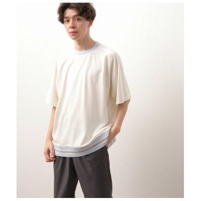 JUNRed / ボトムリブライン ラグランTシャツ MEN トップス > Tシャツ/カットソー