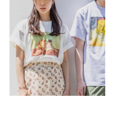 SHIPS any: Jessie プリント 半袖 Tシャツ◇