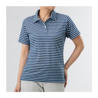 ミズノ ドライベクターボーダーポロシャツ[レディース] 28&nbspダークブルー(b2ma022928)