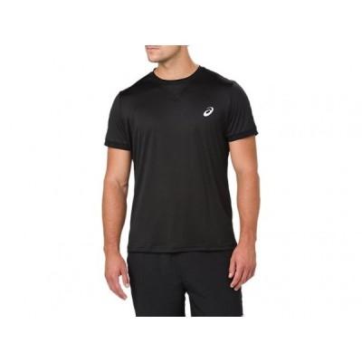 【SALE30%OFF】アシックス asics テニスウェア メンズ ショートスリーブトップ 154405-0904 パフォーマンスブラック【ゆうパケットOK】 2018SS