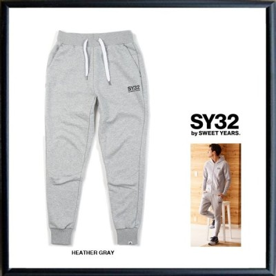 SY32 by SWEET YEARS TNS1706 ロゴ スウェットパンツ color:HEATHER GRAY(グレー)
