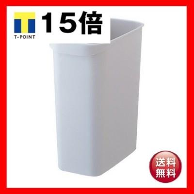 (まとめ)TANOSEE くず入れ 角型 12Lグレー 1個〔×10セット〕