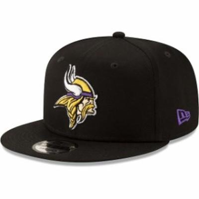New Era ニュー エラ スポーツ用品  New Era Minnesota Vikings Black Basic 9FIFTY Adjustable Snapback Hat