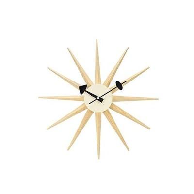 Starburst Wall Clock, 3D Modern Decor Silent Clocks Colorful Wooden Mid Century Retro Design Indoor Battery Operated Modern Quartz Decoratio