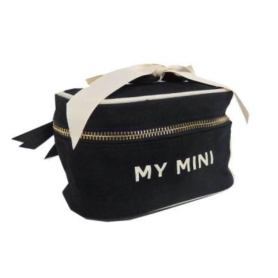 送料370円〜 Bag-all バッグオール ニューヨーク発 コットン Beauty Box MINI バニティバッグ Black