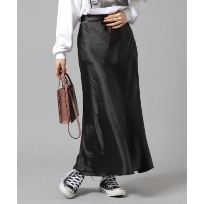 スカート サテンマキシスカート913887