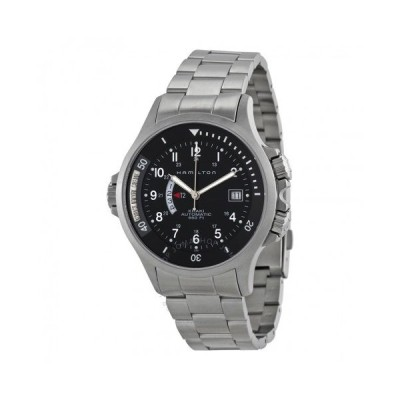 Hamilton/ハミルトン メンズ 腕時計 Khaki Navy GMT Steel Black メンズ Watch H77615133