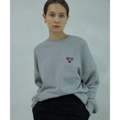 スウェット 【ANEDIT 】トリプルスウェットシャツ / GR_triple sweatshirt