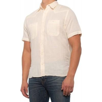 フライ Frye メンズ 半袖シャツ ウエスタンシャツ トップス western shirt - short sleeve Natural