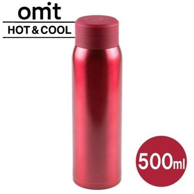 水筒 オミット スクリュー栓マグボトル 500ml レッド RH-1504