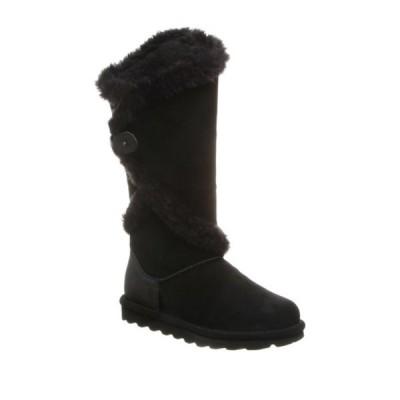 ベアパウ レディース ブーツ&レインブーツ シューズ Sheilah Suede Tall Faux Fur Boot BLACK II