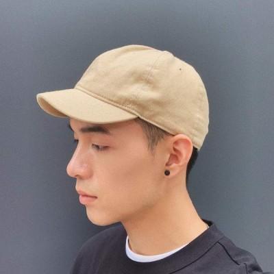 Croogo ショートブリム 野球帽 個性 カジュアルな 短い帽子 BBキャップ 通気性 軽い 調整可能 ハット 日焼け止め帽 無地 コット