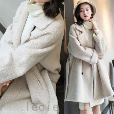 チェスターコート レディース ロングコート 暖かい 上品 アウター きれいめ 無地 長袖 おしゃれ 厚手 柔らかい 秋冬 新作