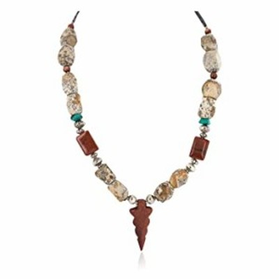 Native-Bay $280Tag Silver Certified Arrow Head Navajo Turquoise Goldstone Necklace 750224-7 Made by Loma Siiva