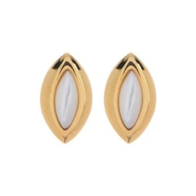 アージェントビオ レディース ピアス&イヤリング アクセサリー 18K Gold Plated Mother of Pearl Marquise Stud Earrings Gold