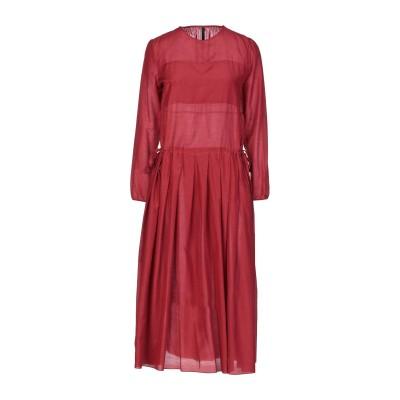 サラ・ランツィ SARA LANZI 7分丈ワンピース・ドレス ボルドー XS コットン 50% / シルク 29% / ウール 21% 7分丈ワン
