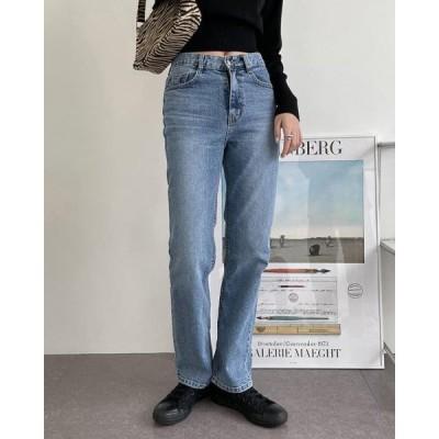 wonderwonder レディース ジーンズ Log Daily Blue Fit Denim Pants