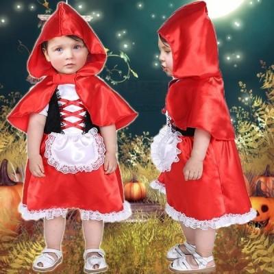 ハロウィン衣装赤ちゃんドレスベビーコスプレコスチューム女の子可愛いキッズ子供用可愛い仮装イベントパーティー