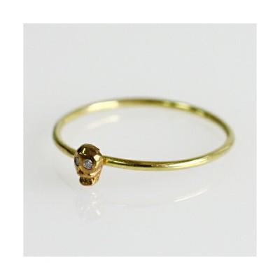 イロンデール エペパン hirondelle et pepin / k18 h-r-8-2-181 スカルリング - ダイヤ レディース 指輪 ギフト プレゼント 記念日 アクセサリ…
