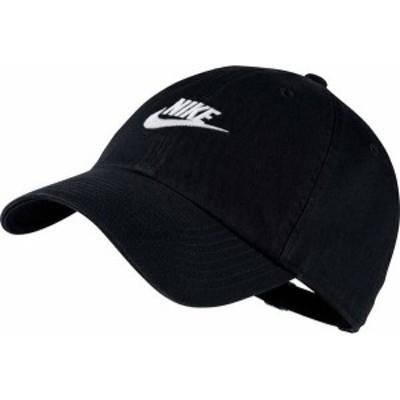 ナイキ メンズ 帽子 アクセサリー Nike Sportswear H86 Cotton Twill Adjustable Hat Black/Black/White