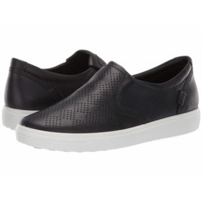 ECCO エコー レディース 女性用 シューズ 靴 スニーカー 運動靴 Soft 7 Casual Slip-On Black Cow Nubuck【送料無料】