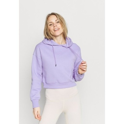 ヌー イン パーカー・スウェットシャツ レディース アウター CROPPED HOODIE - Sweatshirt - lavender