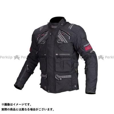 【無料雑誌付き】コミネ JK-593 プロテクトフルイヤーツーリングジャケット(ブラック) サイズ:XL KOMINE