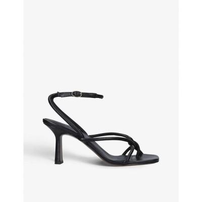 ネオアス NEOUS レディース サンダル・ミュール シューズ・靴 Alkes leather heeled sandals BLACK