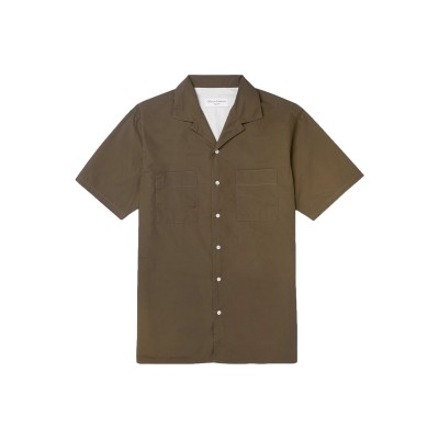 オフィシン ジェネラル OFFICINE GÉNÉRALE Paris 6ᵉ シャツ ミリタリーグリーン XS コットン 100% シャツ
