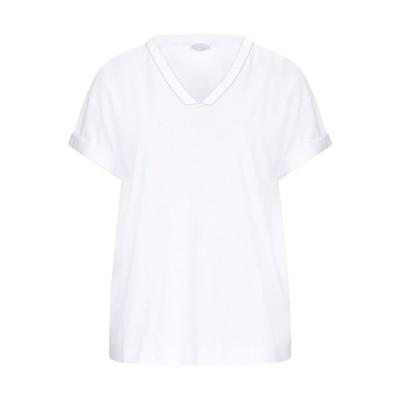 ブルネロ クチネリ BRUNELLO CUCINELLI T シャツ ホワイト M コットン 100% T シャツ