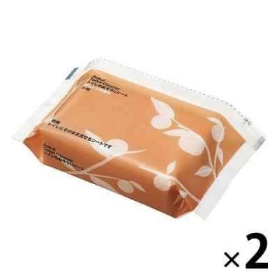 トイレのおそうじシート オレンジの香り ファスナー付き 小判タイプ 1セット(2個) アスクル