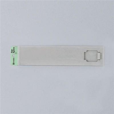 サイン 50mmx225mmX7mm アクリルマット板グレ- 無地テープ付 『無地 』(UP520G-N)
