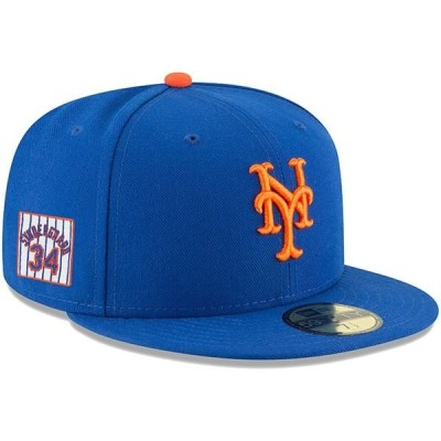 ニューエラ 帽子 アクセサリー メンズ Noah Syndergaard New York Mets New Era Player Patch 59FIFTY Fitted Hat Royal