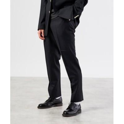 UNBUILT TAKEO KIKUCHI(アンビルト タケオキクチ) ギガストレッチ シャドウストライプ ブラック パンツ