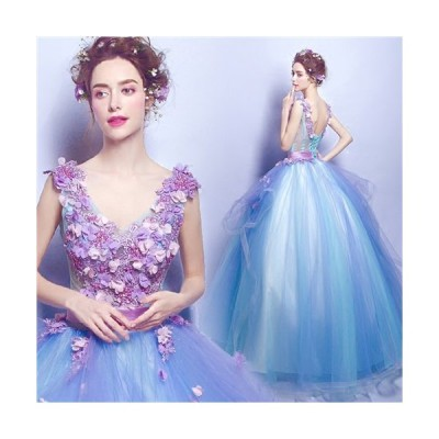 XS/S/M/L/XL/2XL/3XL 豪華な ウェディングドレス 花の妖精風 ロングドレス 膝下丈ドレス 2タイプあり トレーンドレスda227c0c0m2